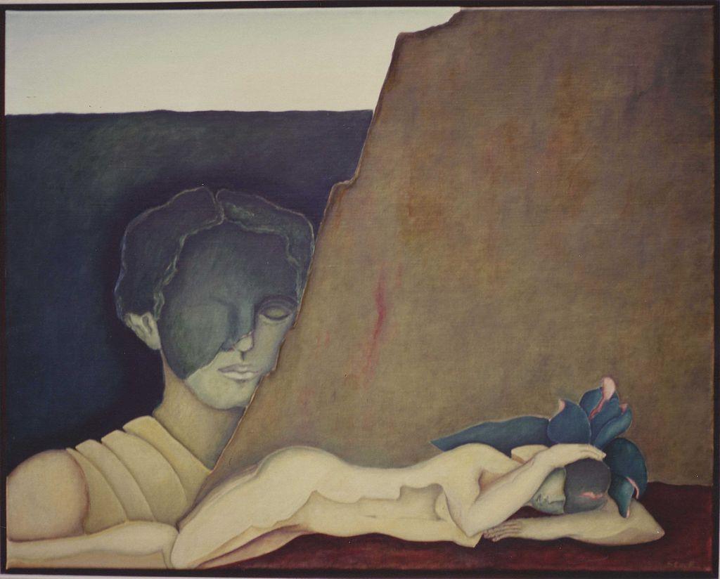 """Ein Symbolbild für den flüchtigen Schlaf: Gemälde """"Dunkles Wachen"""" von Ursula Stock, aus Wikimedia Commons, CC BY-SA DE 3.0"""