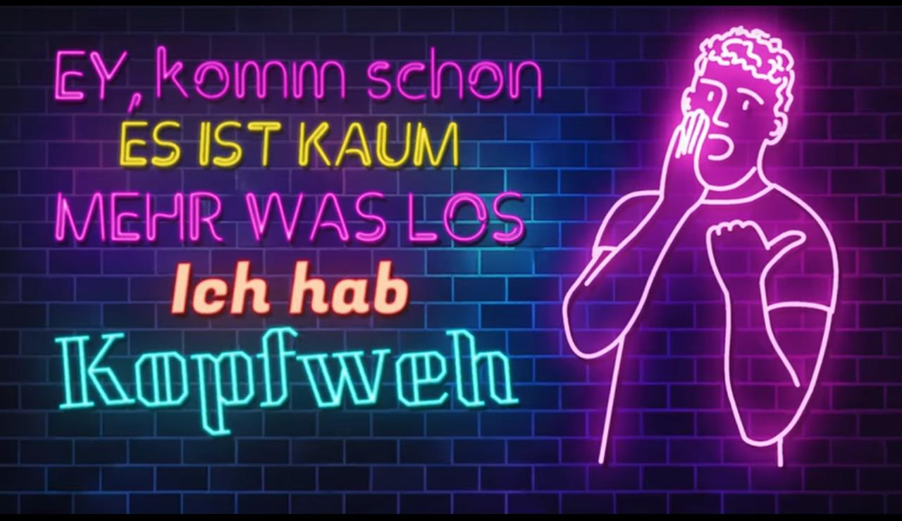 """Screenshot des YouTube-Videos """"Nein, Mann"""" von Seolo, ein Cover des Electro-House-Songs von Lasercraft 3D"""